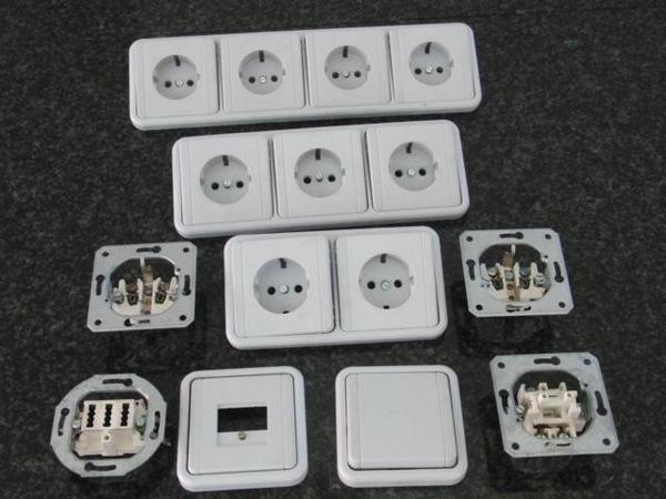 steckdosen lichtschalter tae dosen abdeckrahnen in penzberg elektro heizungen. Black Bedroom Furniture Sets. Home Design Ideas
