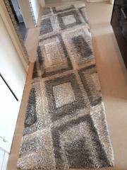Teppich grau/weiß