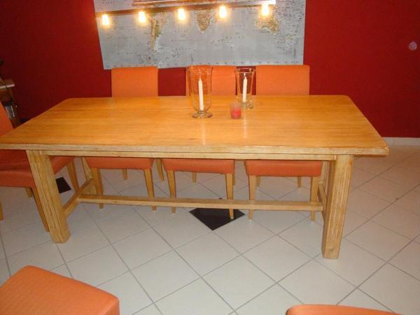 Tisch pinie gekalkt speisezimmer essecken for Tisch pinie
