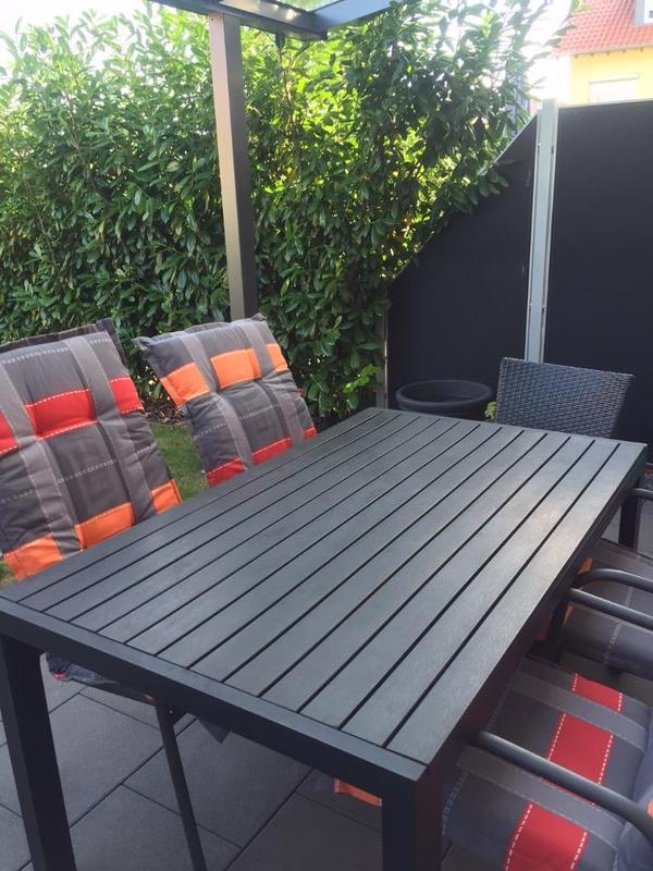 tisch terrasse balkon garten in plankstadt. Black Bedroom Furniture Sets. Home Design Ideas
