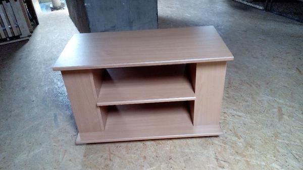 tv hifi bank buche fernsehtisch mit 4 rollen in karlsruhe. Black Bedroom Furniture Sets. Home Design Ideas
