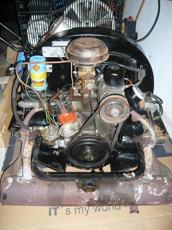vw k fer motor industriemotor 1200 ccm 28 ps bj 1958 nur. Black Bedroom Furniture Sets. Home Design Ideas