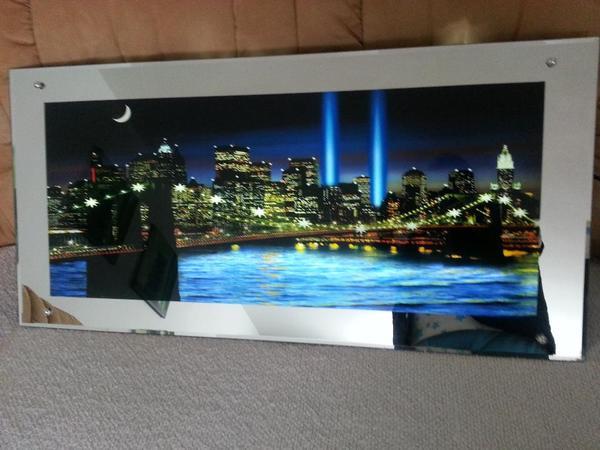 wandbild mit beleuchtung glas pendelleuchte modern. Black Bedroom Furniture Sets. Home Design Ideas