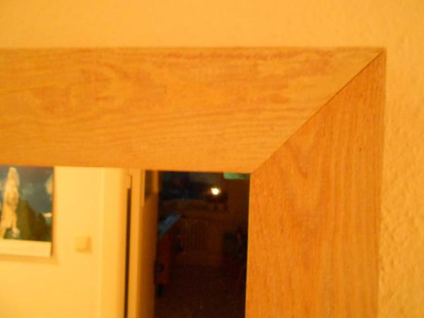 Wandspiegel naturholz leicht wei gekalkt in kiel for Garderobe naturholz