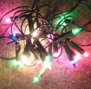 Weihnachten Lichterkette farbig