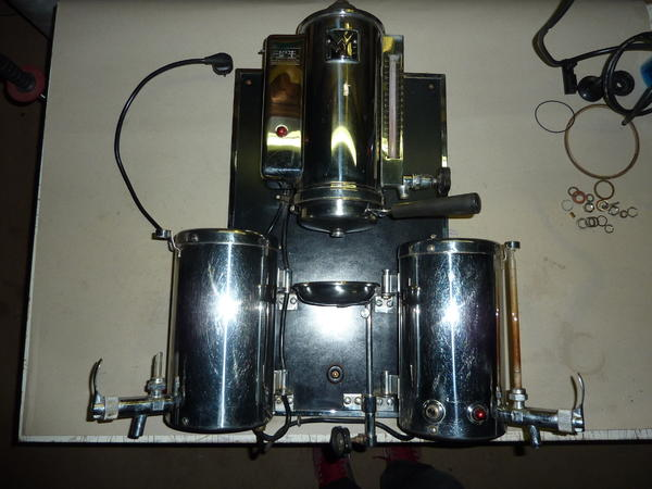 wmf kaffeemaschine 2002 wandmaschine cromargan in. Black Bedroom Furniture Sets. Home Design Ideas