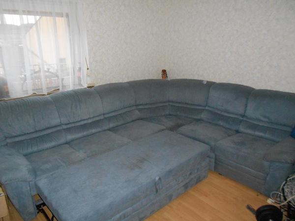 Sofa schlaffunktion kleinanzeigen familie haus garten for Blaue wohnlandschaft