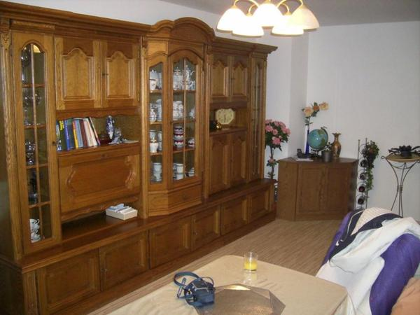 wohnwand eiche rustikal p 43 teilmassiv in n rnberg. Black Bedroom Furniture Sets. Home Design Ideas