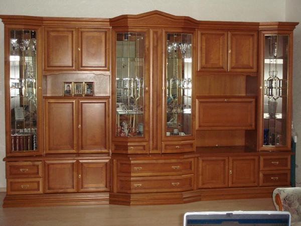 wohnwand wohnzimmerschrank schrank holz front massiv kirschbaum in neubulach. Black Bedroom Furniture Sets. Home Design Ideas