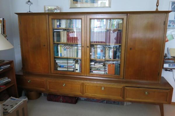 Wohnzimmer Schrank Gnstig WohnzimmerSchrank 50er Jahre Mit Vitrine Und Schubladen Antik