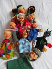 11 STEIFF-Handpuppen Kasperl Gretel Oma