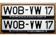 2 besondere VW Kennzeichen Rahmen