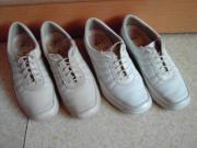 2-Paar helle Marken-Schuhe Gr 38