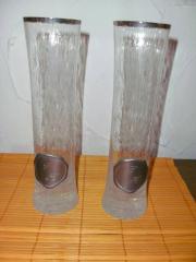 2 schlanke Gläser mit Initialien