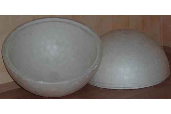 2 Styroporhalbschalen Styroporkugel dm 50cm