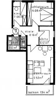 2 -Zimmer-Wohnung