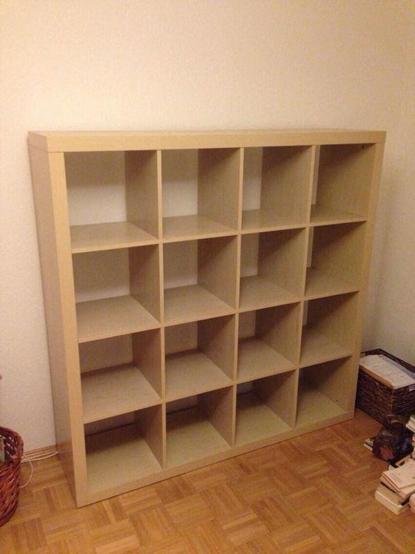 3 ikea expedit regale buche 4x4 und 2 mal dunkelbraun 4x2 2x4 in m nchen ikea m bel kaufen. Black Bedroom Furniture Sets. Home Design Ideas
