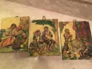 3 Morillo Bilder handkoloriert