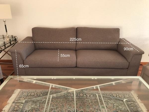 3er Sofa Couch Polster Sessel