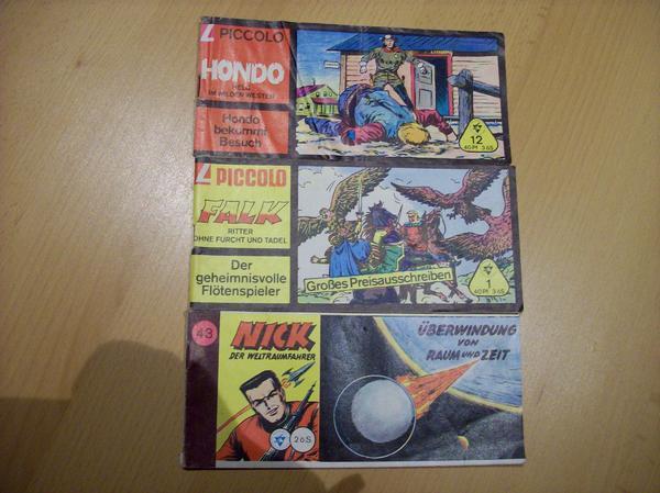 3x Piccolo Nick Falk Hondo Comics Hefte - Gundheim - Lehning Verlag Nick Band 43, Falk Band 1, Hondo Band 12, guter Zustand. - Gundheim