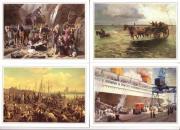 4 Postkarten Wattenpost Überfall im