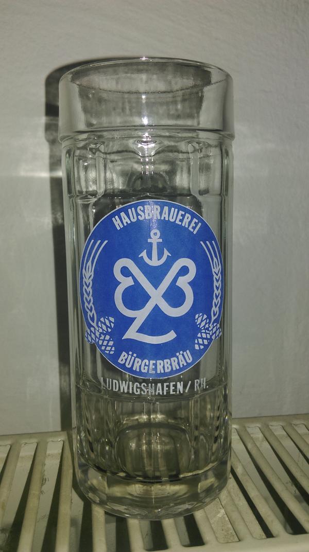 6 x Ludwigshafener Bürgerbräu Bierkrüge