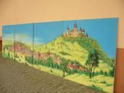 6m langes Bild Landschaft in