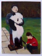 Acryl-Gemälde Pandabären-