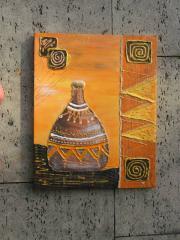 Acrylbild auf Keilrahmen Flaschenmotiv