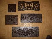 Alte Herdplatten aus Eisen