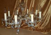 alter 8armiger Leuchter Kristalllüster Kristall-Lampe