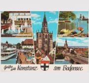 Ansichtskarte Konstanz am Bodensee vom