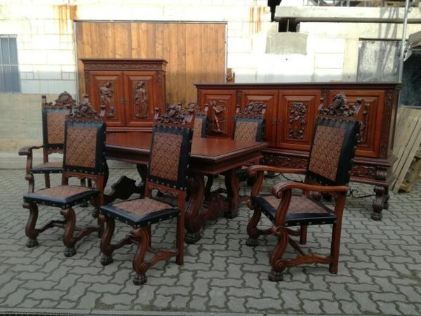 Antikes Gründerzeit / Renaissance Speisezimmer / Esszimmer, Esszimmer