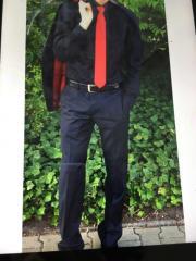 Anzug, schwarz mit