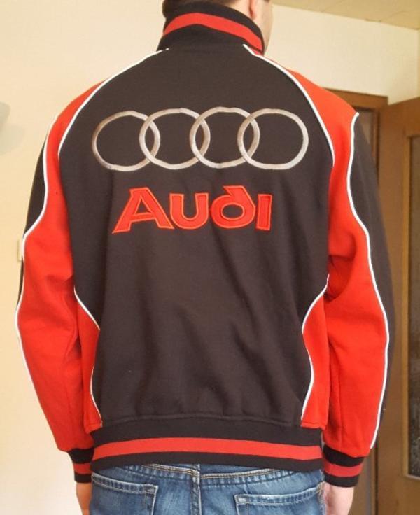 Audi jacke rot schwarz