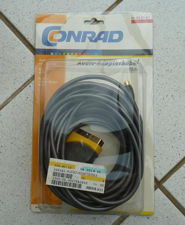 Audio-Adapterkabel 10m NEU - Mannheim - das Kabel ist neu und in OVP, genaueres siehe bitte Fotos! P.S.: Versand via Hermes für 3,90 möglich - Mannheim
