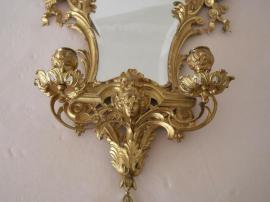 Sonstige Antiquitäten - Barock Spiegel ca 1889 Zwei