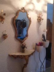 Barocker Wandspiegel vergoldet
