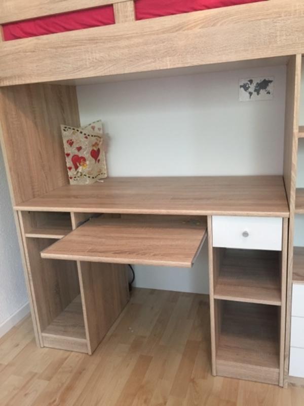 Bega Hochbett massiv Kleiderschrank Schreibtisch Kinderbett Eiche in ...