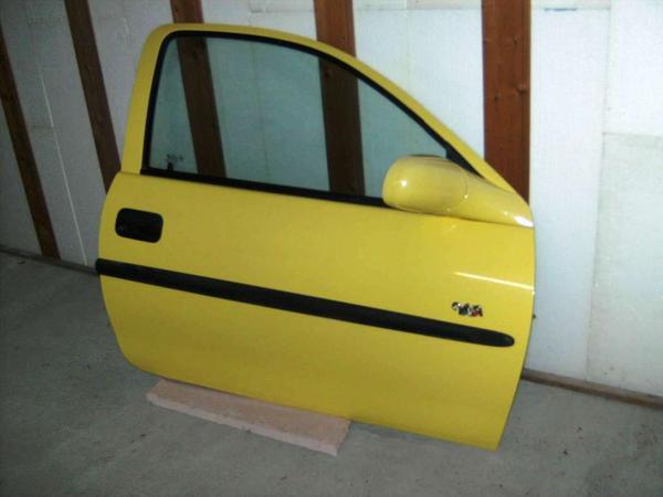 Beifahrertür Opel Corsa B gelb