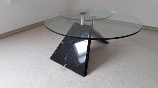 Beistelltisch glastisch in h rbranz couchtische kaufen for Wohnzimmertisch 80er