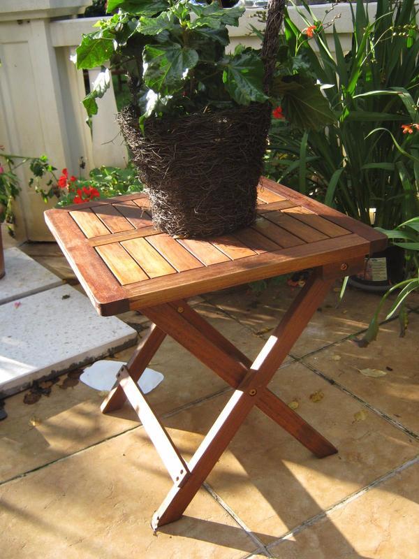 Beistelltisch Klapptisch Holz Tisch Gartentisch Garten