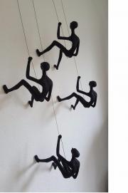 Bergsteiger Skulptur Wanddeko