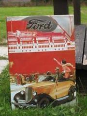 Blechschild Ford Werbeschild