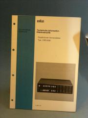 Braun CSQ 1020 original Manual