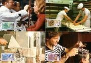 Briefmarken BRD 4 Maximumkarten Berufe