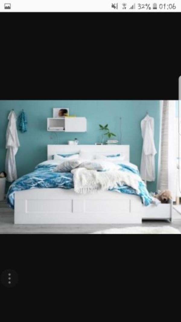 ikea brimnes bett 180x200 brimnes bed frame w storage and headboard 180x200 cm lur y ikea. Black Bedroom Furniture Sets. Home Design Ideas