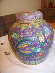 chinesische Deckelvase