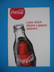 Coca Cola Postkarte Lass mich