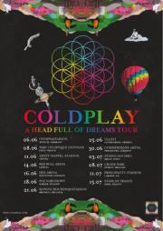 Coldplay Ticket Innenraum